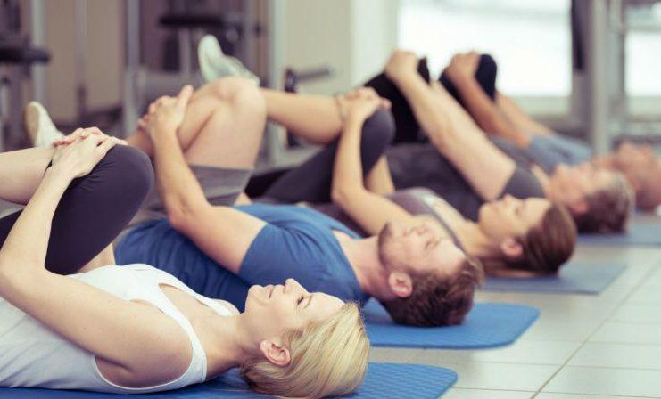 Lezioni di ginnastica per adulti in TV