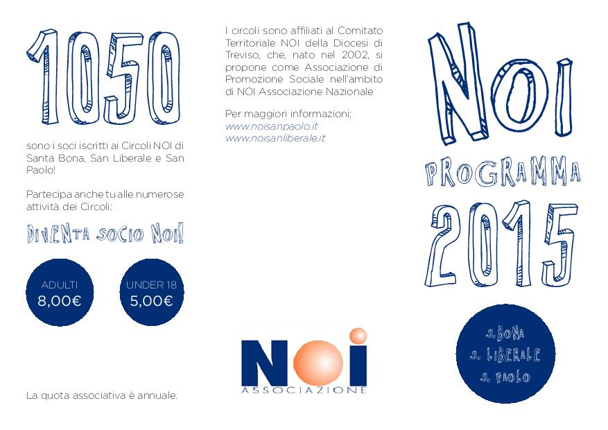 Programma NOI 2015